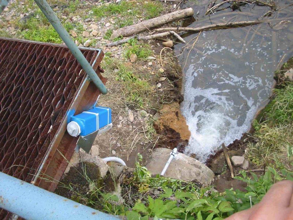 PC Sledování kvality vody<br />Dálkové kamerové sledování kvality vypouštěné vody, ESAB Vamberk.